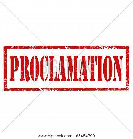 Proclamation-stamp