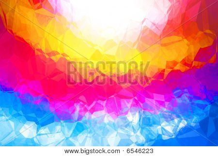 Bright multicolor abstract background with a pattern poster