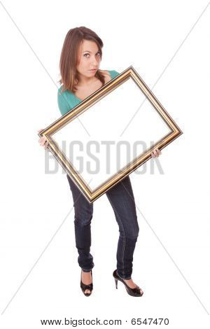 Fashion Woman With A Frame