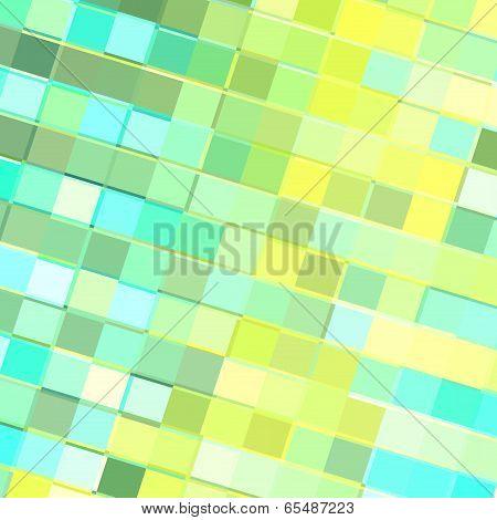 Turquoise Yellow Tiles