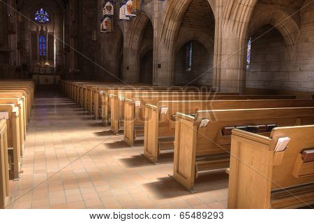 Inside St Johns Church.