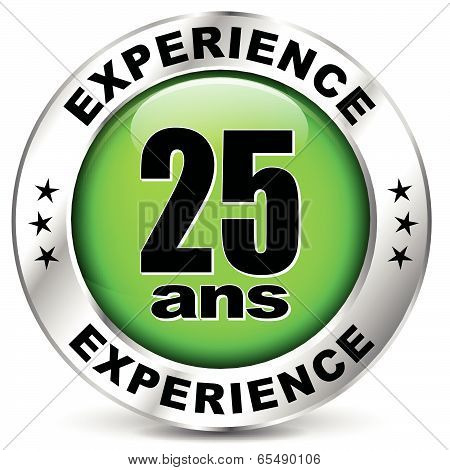 Twenty Five Years Experience Icon
