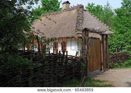 Farmer's house in open air museum Kiev Ukraine