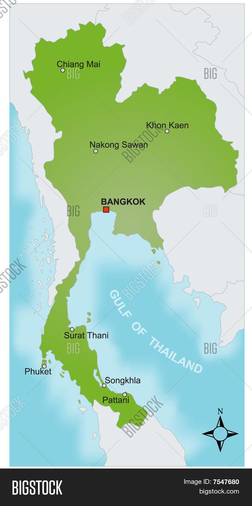 Map Thailand Vector Vector & Photo (Free Trial)   Bigstock