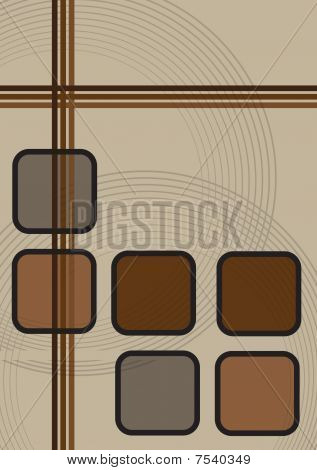 Abstract Brown Background Squares