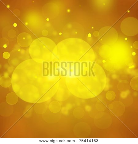 Gold festive background. Christmas and New Year feast bokeh background . poster