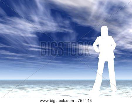 white silhouette