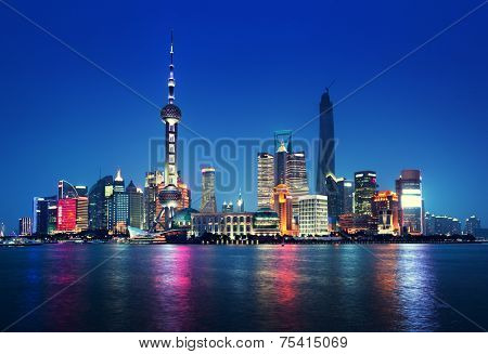 Shanghai at night, China