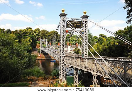 River Dee Suspension Bridge, Chester.