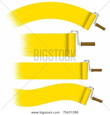 Paint Rollers Set - Yellow