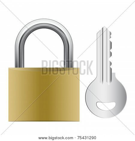 Padlock Attached With Key