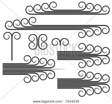 Art Deco Scrolls Vector