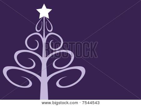 Contemporary christmas tree on mauve