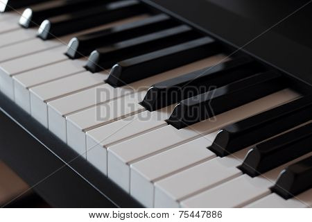 The Keys Of A Pianoforte Diagonal