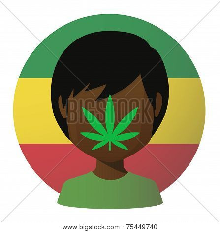 Avatar With A Marijuana Leaf