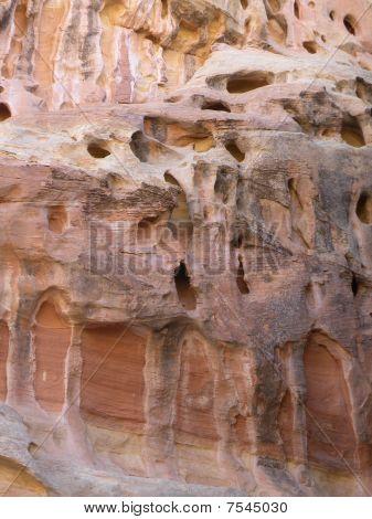 Canyon wall erosion