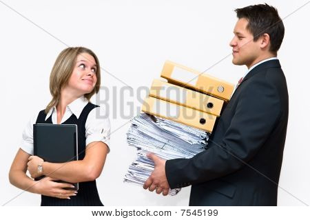 Two Businesspeople Woman And Man