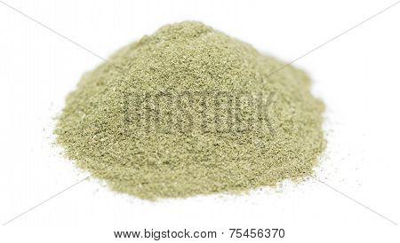 Lovage Powder Over White