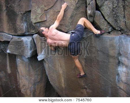 rock climbing man