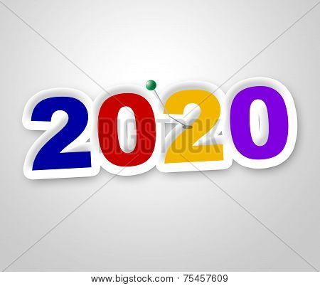 New Year Indicates Two Thousand Twenty And Annual