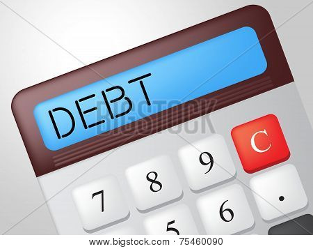 Debt Calculator Indicates Financial Obligation And Calculation