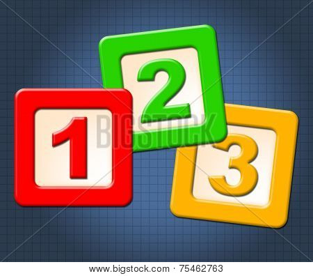 Numbers Numeracy Means Blocks Child And Numerals