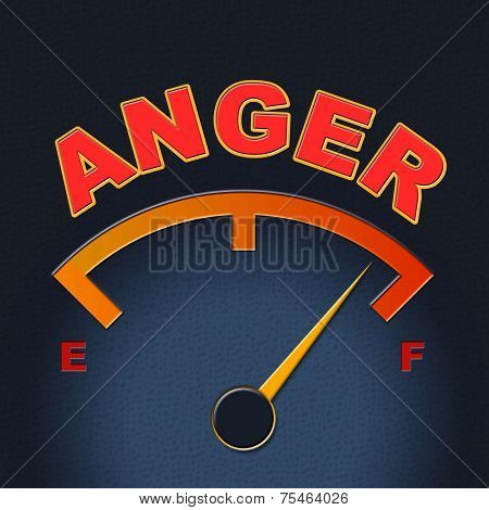 Anger Gauge Means Annoy Annoyed And Rage