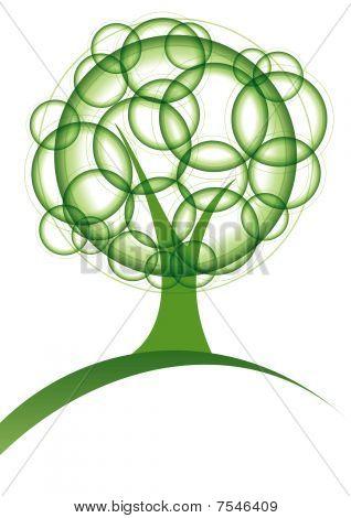 Green circles tree