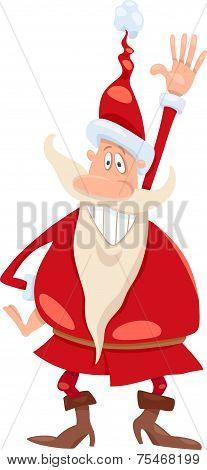 Santa Claus Cartoon Illustration