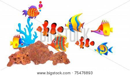 close up shot of a Clown Fish stock photo