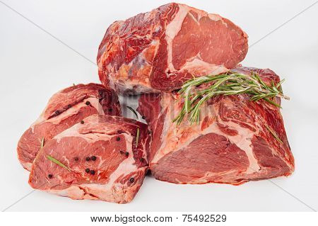 Raw Meat With Herbs And Spices