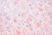 Vintage  wallpaper background consisting various flowers pattern poster