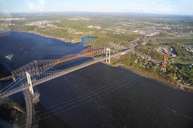 Aerial View Of Quebec City Area