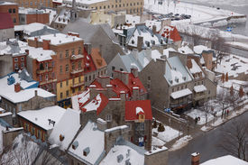 Quebec City In The Winter Time