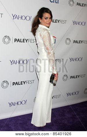 LOS ANGELES - MAR 13:  Lea Michele at the PaleyFEST LA 2015 -