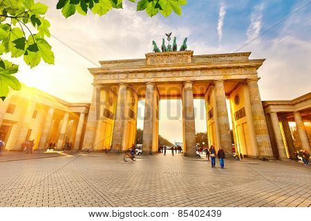 Brandenburg gate at summer, Berlin