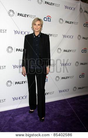 LOS ANGELES - MAR 13:  Jane Lynch at the PaleyFEST LA 2015 -