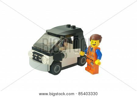 Emmet And His Car Lego Minifigure