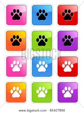 Paw Prints Web Icon Collection