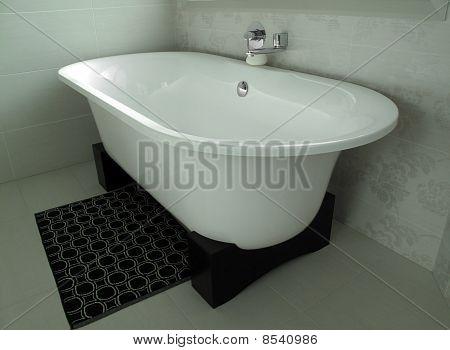 Interior Bathroom With Modern Bath