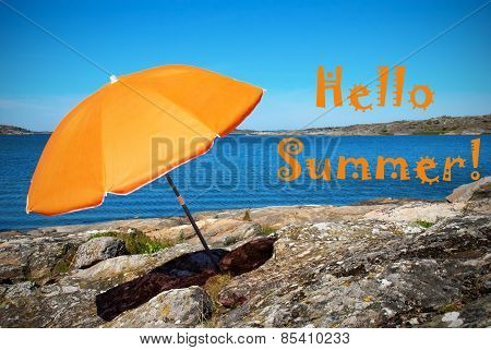 Swedish Coast With Hello Summer