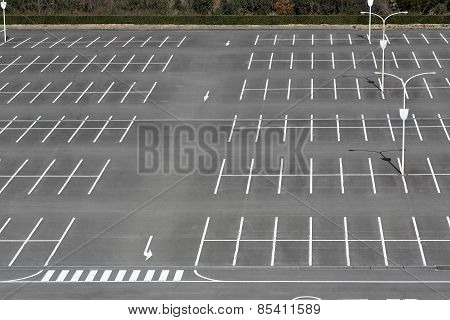 Empty car parking lot