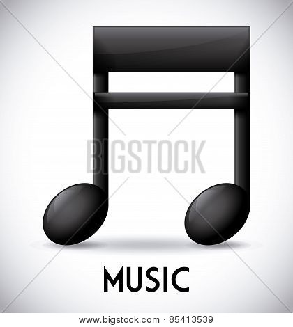 Music design over gray background vector illustration