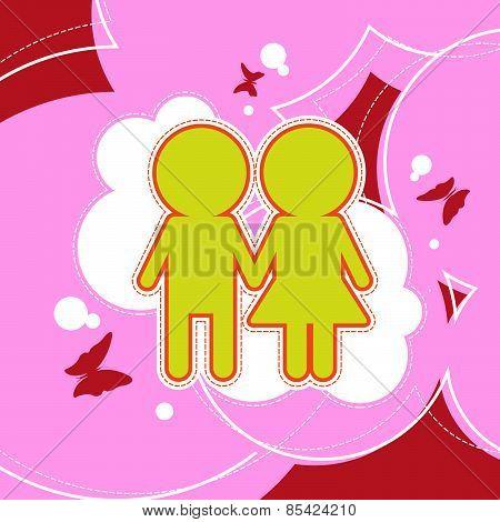Couple Love Background Design