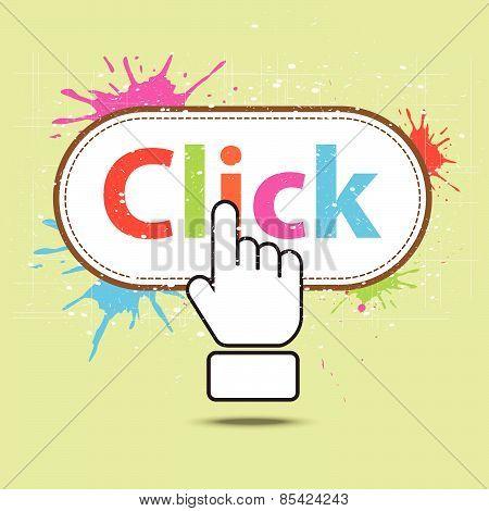 Hand Icon Click Design