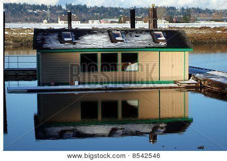 Boatshed Reflection