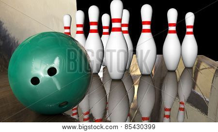 Foreground Game Bowling