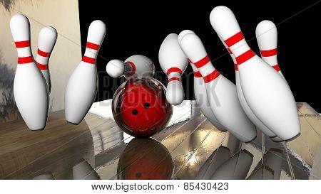 Knocking Down Bowling