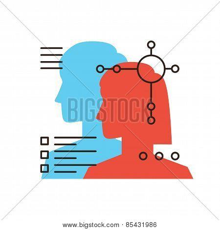 Personal Profiles Flat Line Icon Concept
