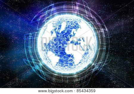 Blue Globe Abstract